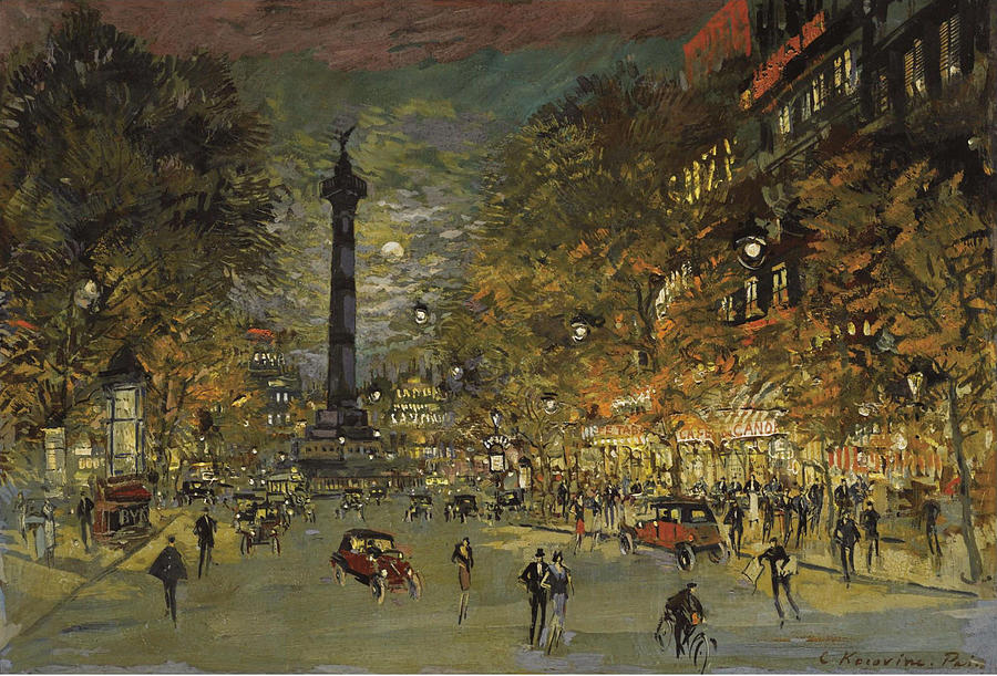 the-square-of-bastille-paris-konstantin-korovin